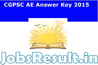 CGPSC AE Answer Key 2015