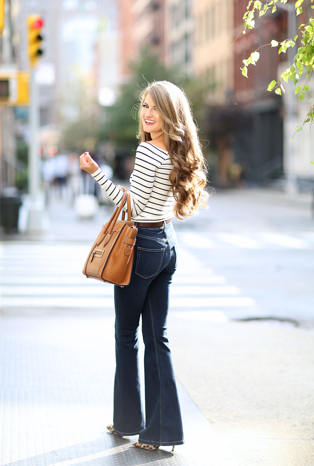 High flare jeans