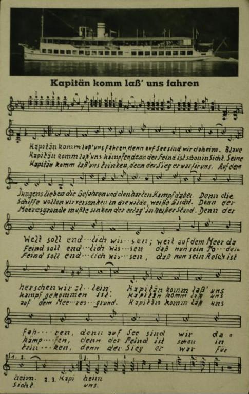 Maritime Bad Godesberg : Kapitän, komm lass uns fahren (Liedkarte)