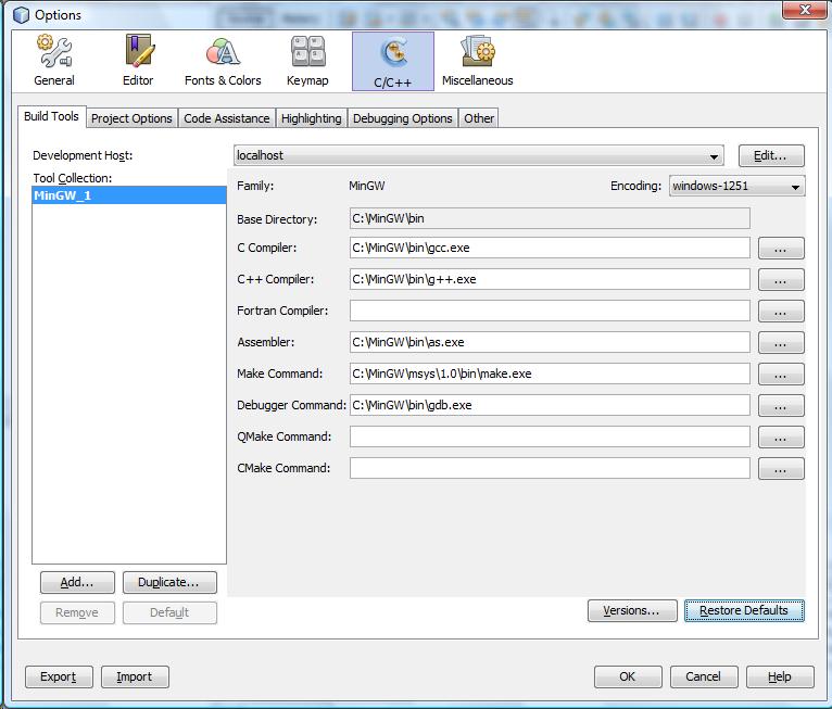 mingw compiler for windows 7