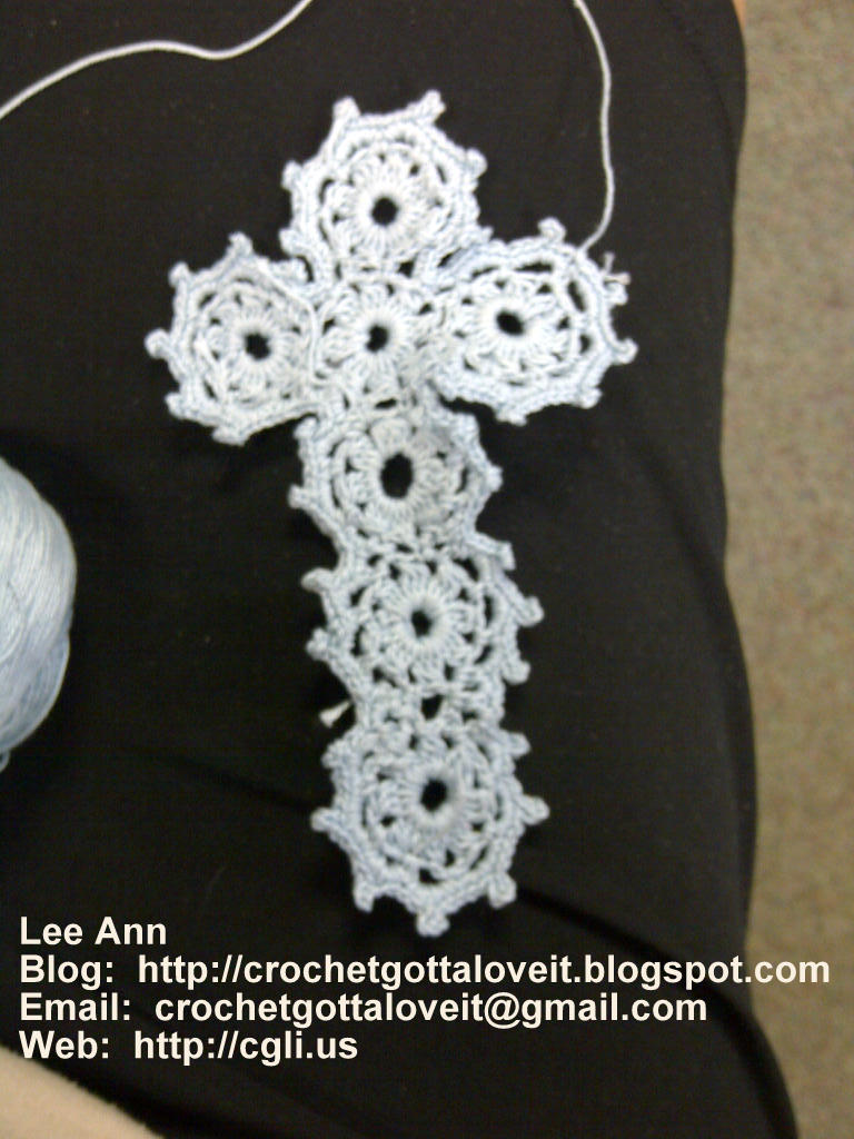 Crochet Cross : Lucky Pattern Find on a Crochet Cross!