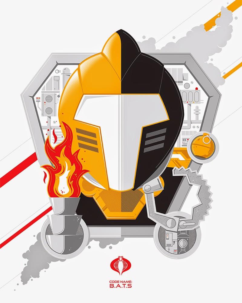Code Name B.A.T. G.I. Joe Screen Print by Nathan Walker