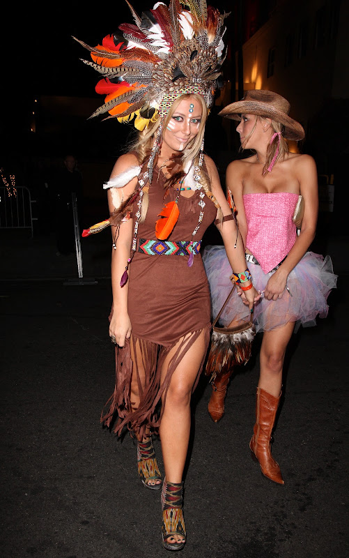 Aubrey O'Day wearind an Indian Halloween Costume 2012