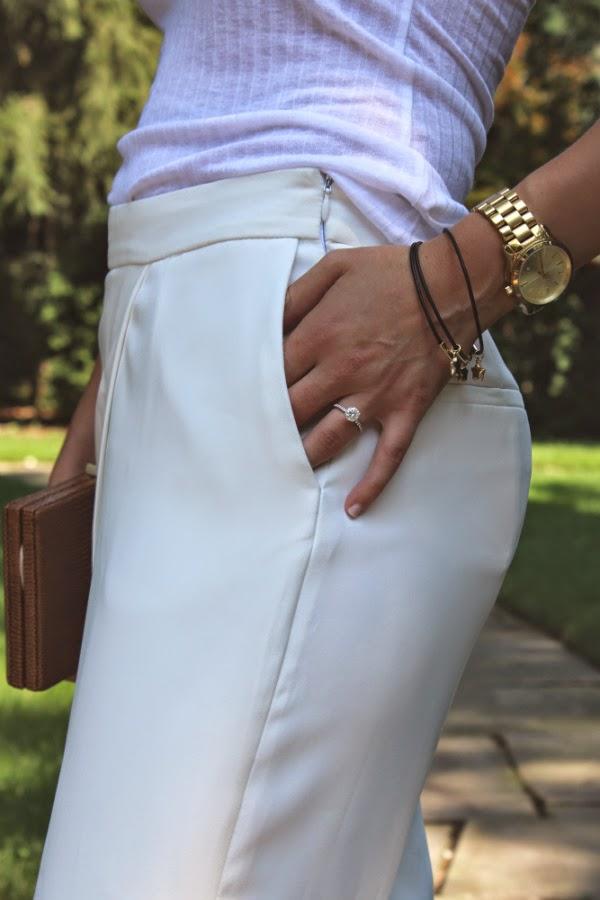 Zara flowing sarong trousers