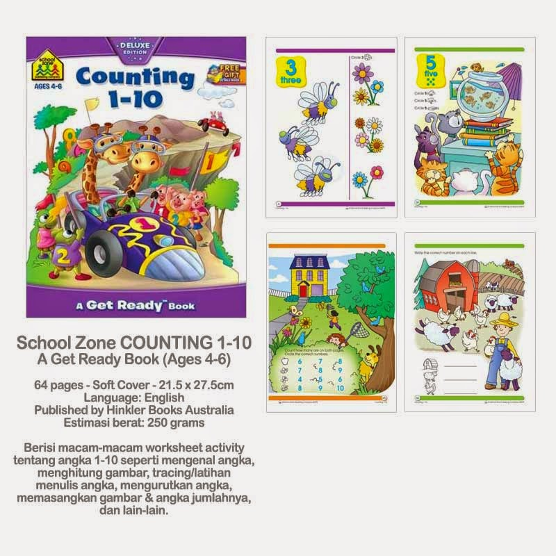 Book Cover School Zone ~ Planet bayi school zone counting a get ready book