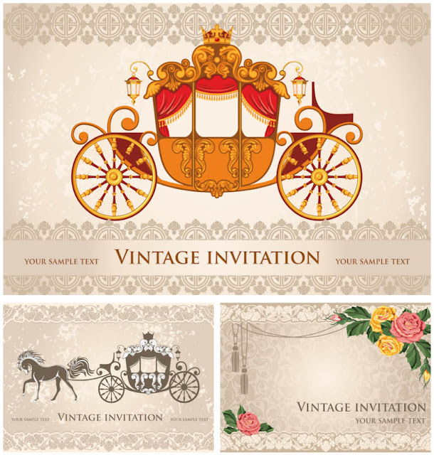 3 Professional Wedding Invitation Templates with Wedding Cart Arts