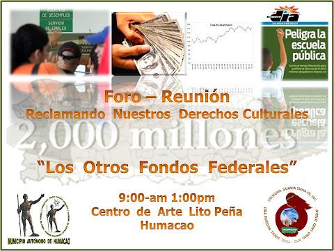 Foro-Reunión:  Reclamando Nuestros  Derechos  Culturales