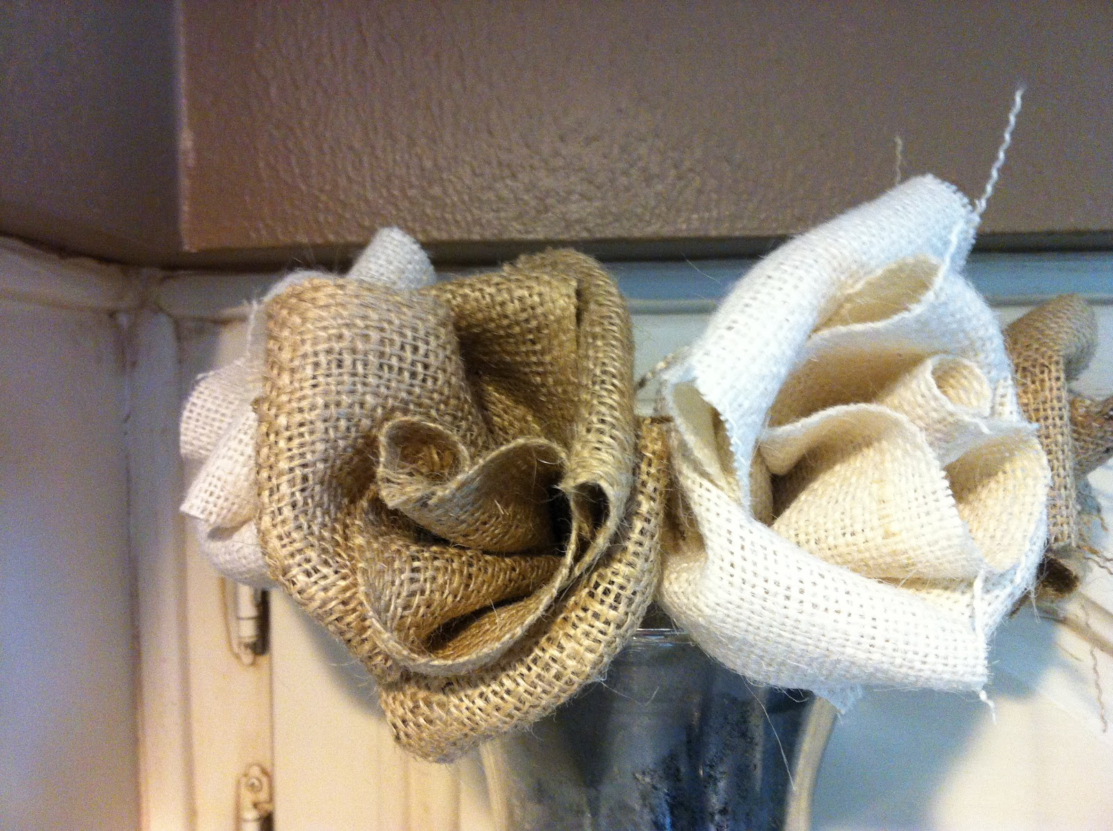 Want to Crafty Imitation = Flattery Burlap Flowers