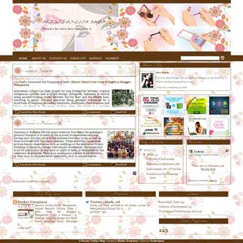Beauty Online Shop Blogger Template. template online store for blog