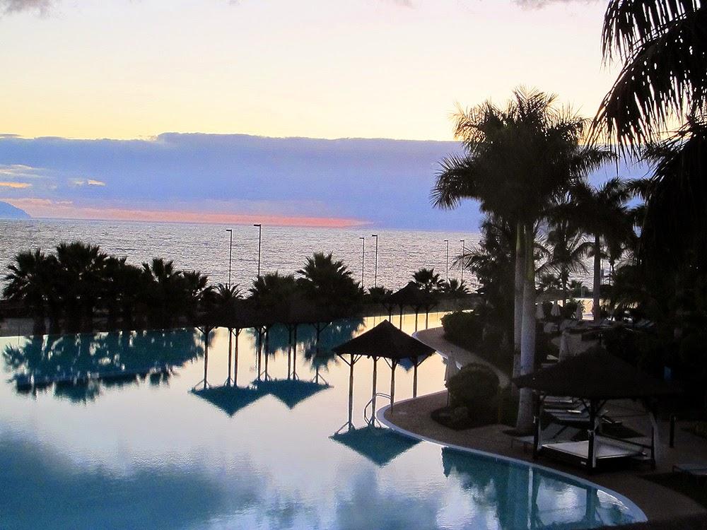 Sunset at Hotel Gran Meliá Palacio de Isora, Tenerife, Canaries