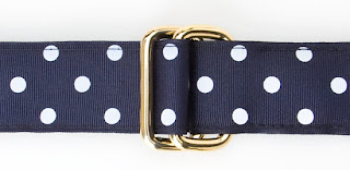 preppy ribbon belt j press polka dot