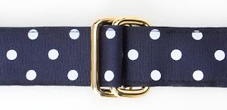 preppy ribbon belt j press polka dot