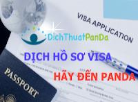 Dịch Hồ Sơ Visa Giá Rẻ Panda