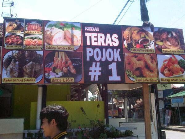 cafe teras pojok I jl.raya panyileukan blok A5 no. 20 Komp. Bumi Panyileukan Bandung