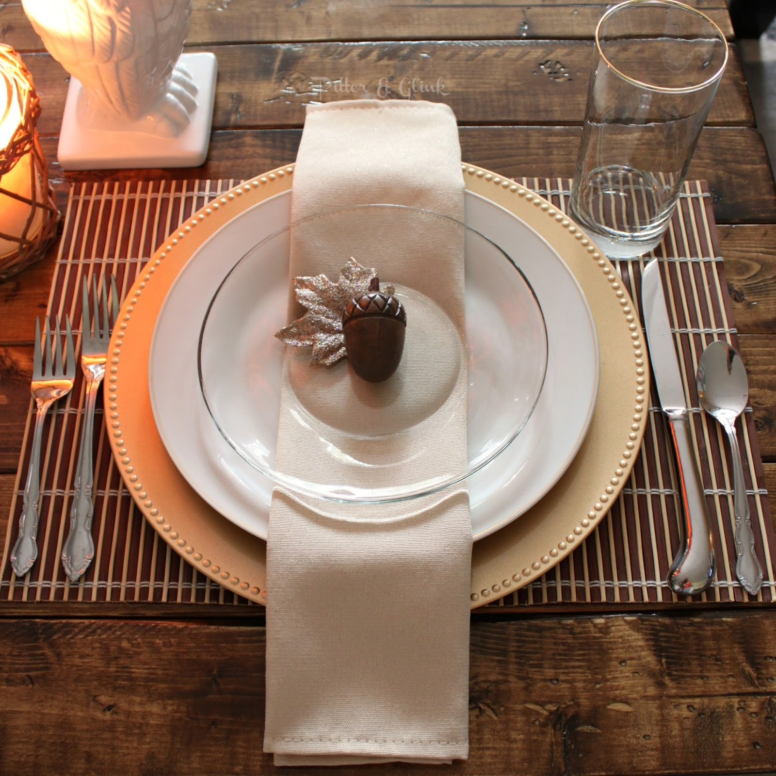 Pitterandglink simple inexpensive thanksgiving table setting for Simple table setting