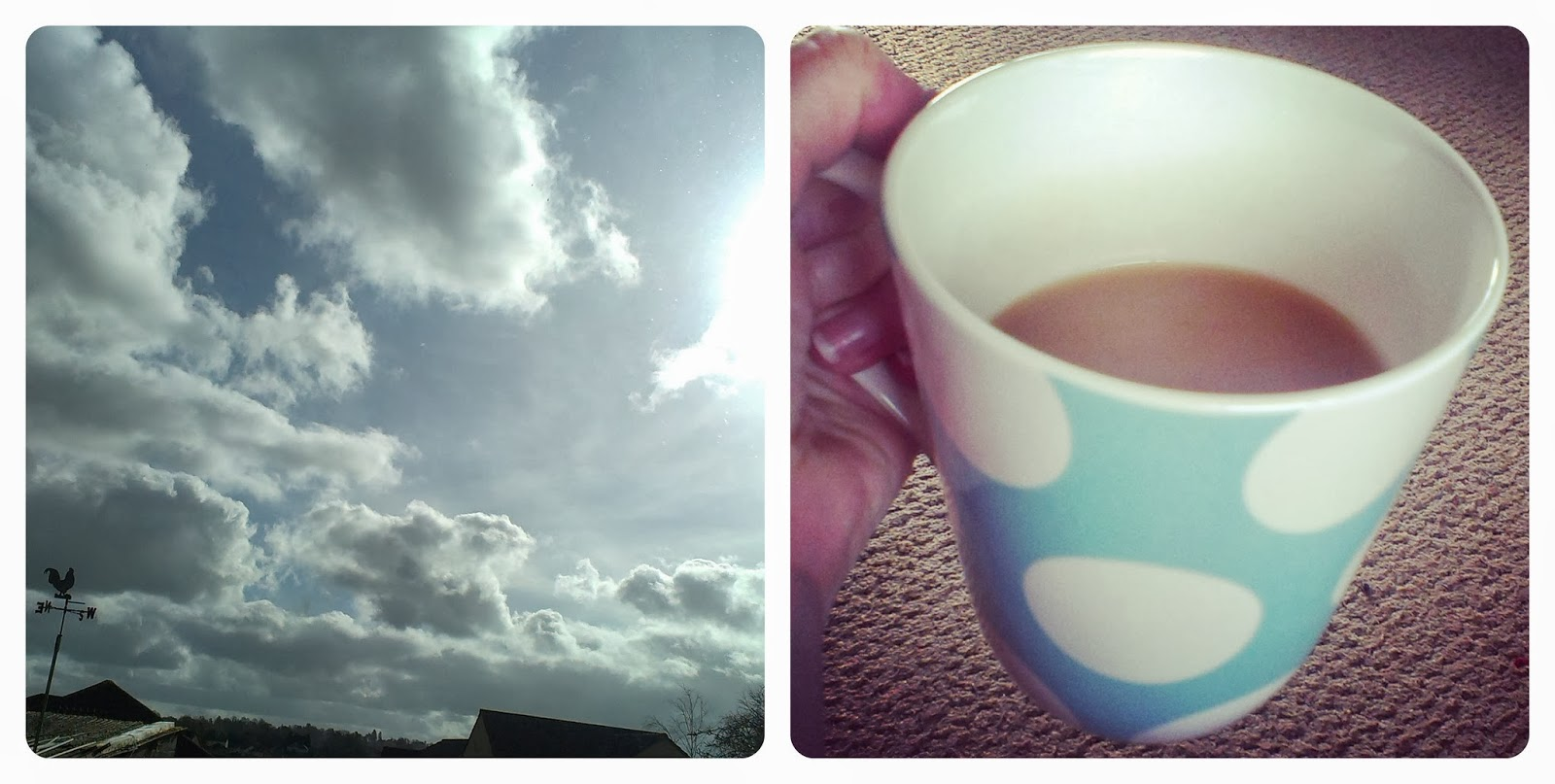 Blue sky, sunlight and clouds - A cup of tea