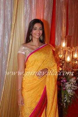 Sonam Kapoor saree pics