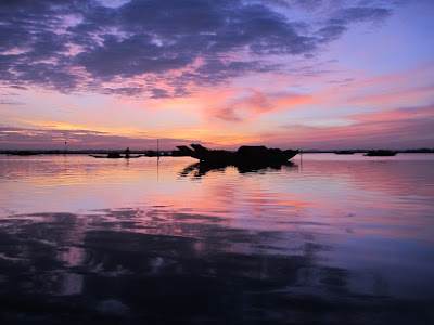 sunrise on Tam Giang lagoon, morning in Tam Giang lagoon