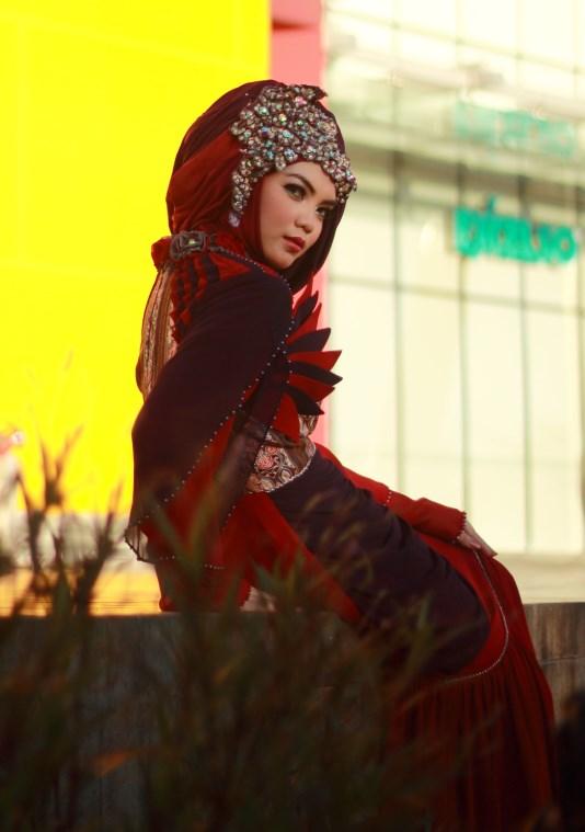 model tutorial hijab
