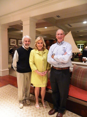 Tina Sloan (center) with Athertyn builders Todd and Don Pohlig