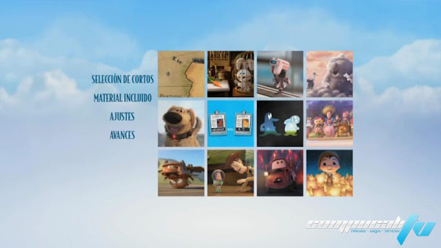 Pixar Short Films Collection Volumen 2 DVDR NTSC Español Latino Menu 2012