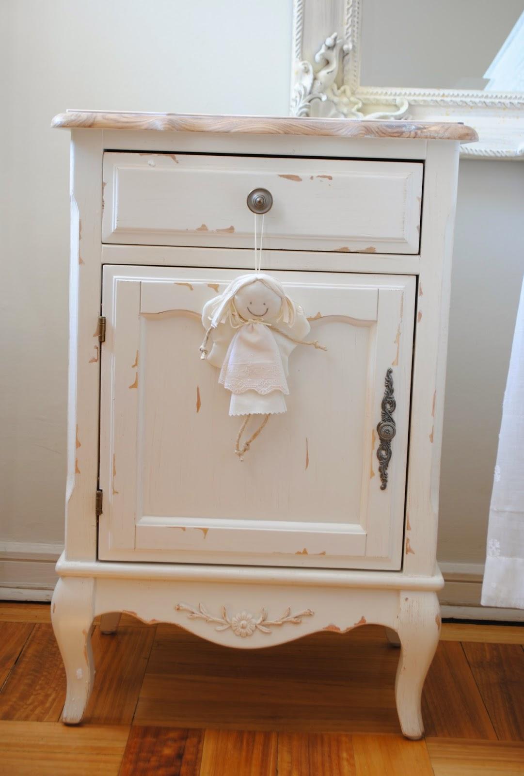 Muebles blanco decapado mueble tv loira estilo louis xv - Mueble blanco decapado ...