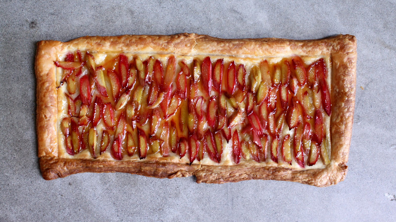 Rhubarb Tart With Orange Glaze Recipe — Dishmaps
