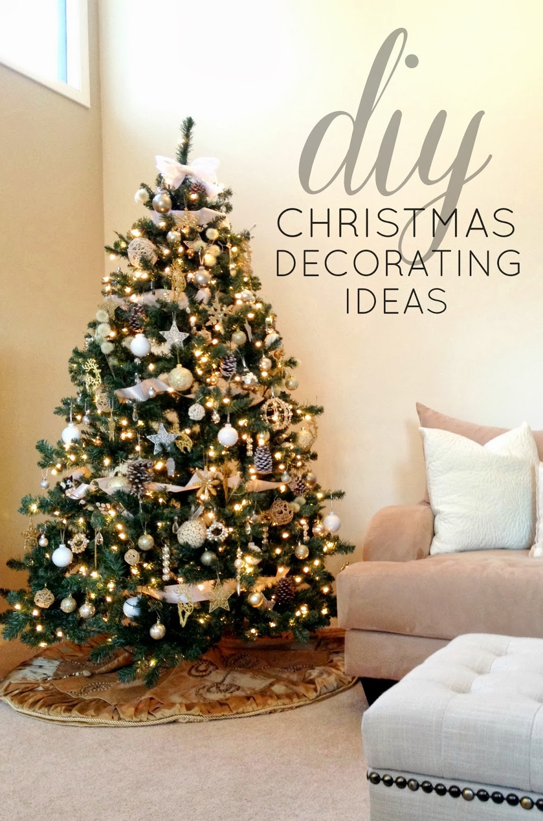 Livelovediy 10 christmas diy ideas for Home made christmas tree decorations