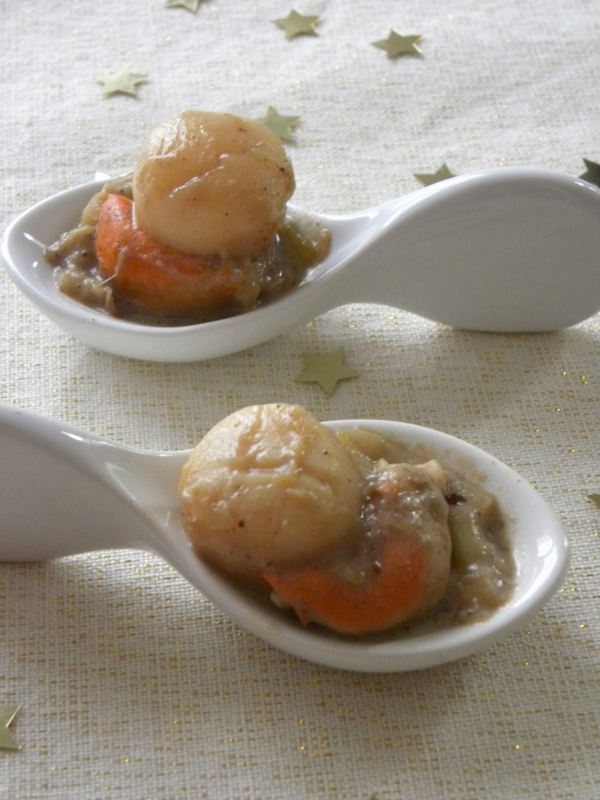 Vadrouilles gourmandes cuill re de noix de saint jacques - Noix de st jacques au four ...