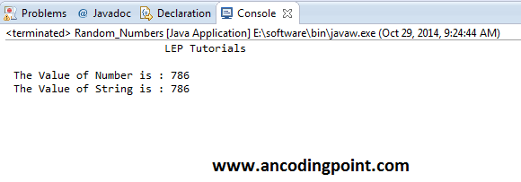 Integer to String Conversion in Java