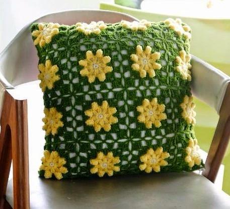 Cojines tejidos a crochet con gr ficos para imprimir - Cojin de crochet ...
