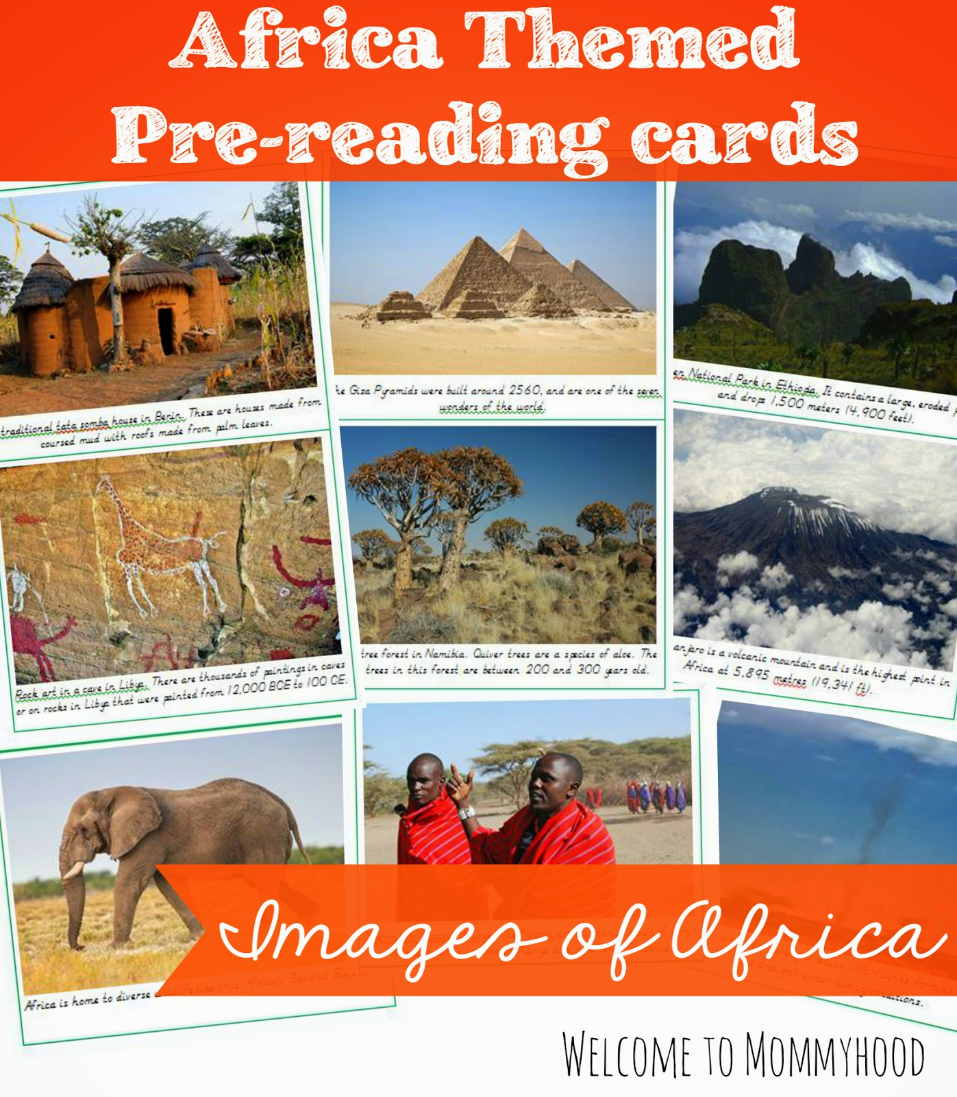 FREE African Images Cards - Montessori Inspired {Welcome to Mommyhood} #montessori, #freeprintables