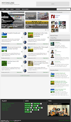 MyTimeLine Responsive Blogger Template Screenshot