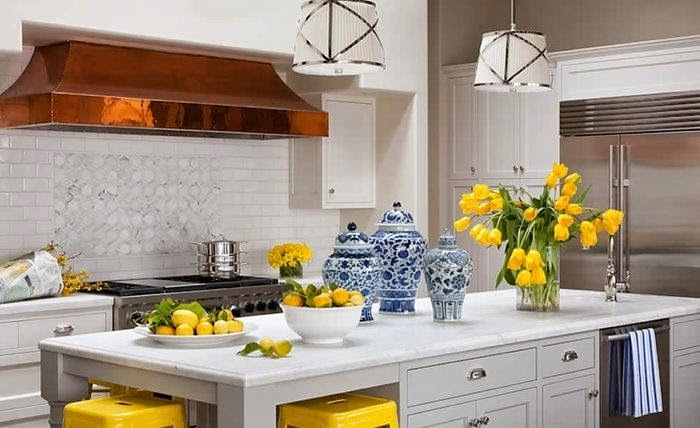 Accesorios de cocina amarilla ideas para decorar cocinas for Blue and yellow kitchen decorating ideas