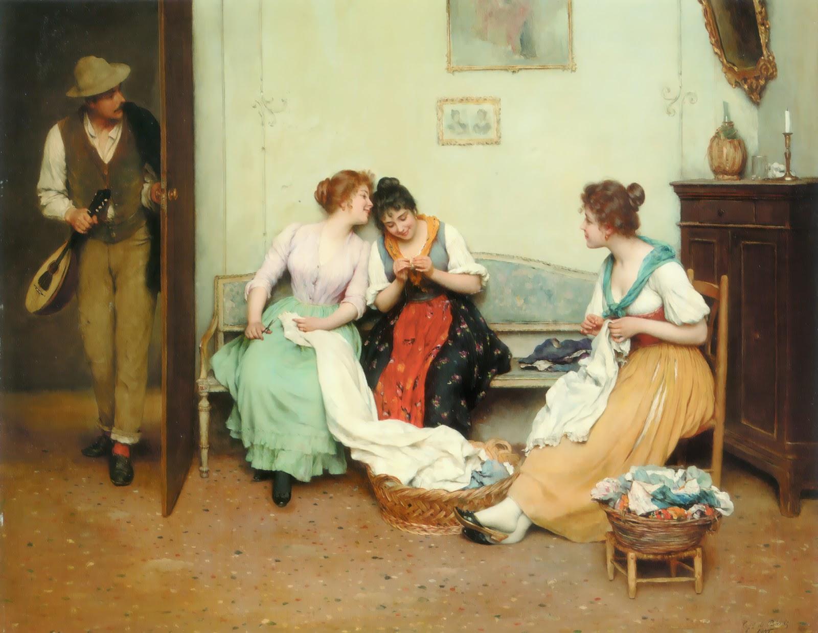 Eugene de  laas The Friendly Gossips