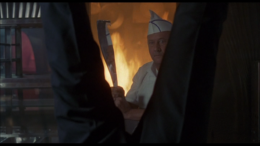 Donald Pleasance in a dream sequence from Alone In The Dark (1982)