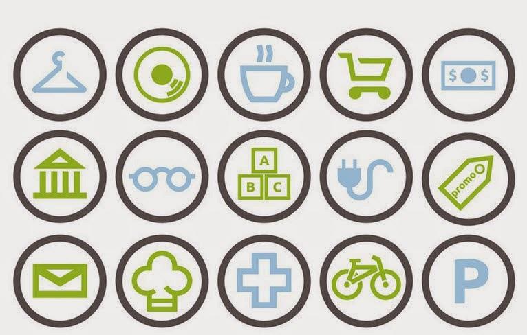 Free City Shops Icons (AI)