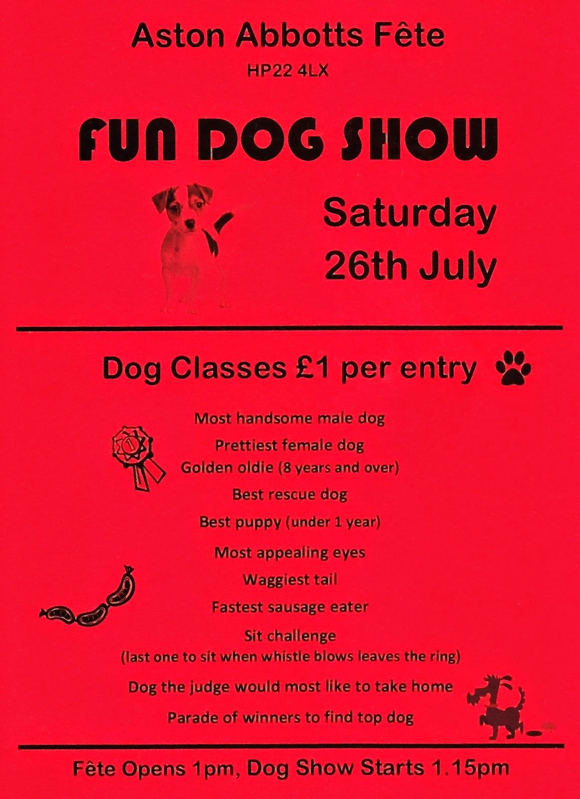 Aston Abbotts Dog Show poster