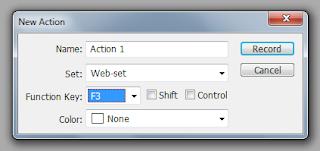 Создаём новый action в Adobe Photoshop