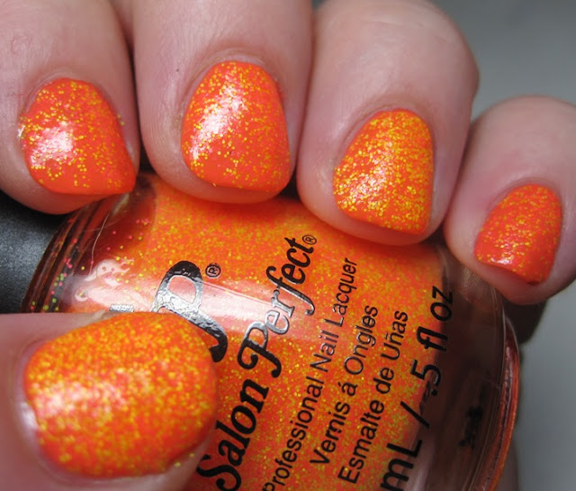 Orly Truly Tangerine with Salon Perfect Bang and Exploded