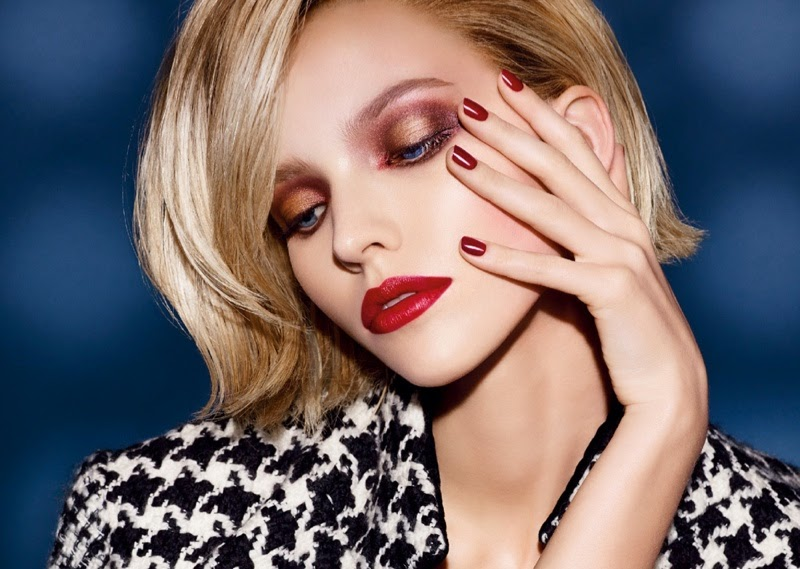 Sasha Luss stars for the Fall 2014 Dior Make Up Campaign