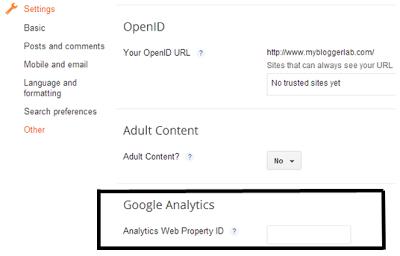 instal Google Analytics