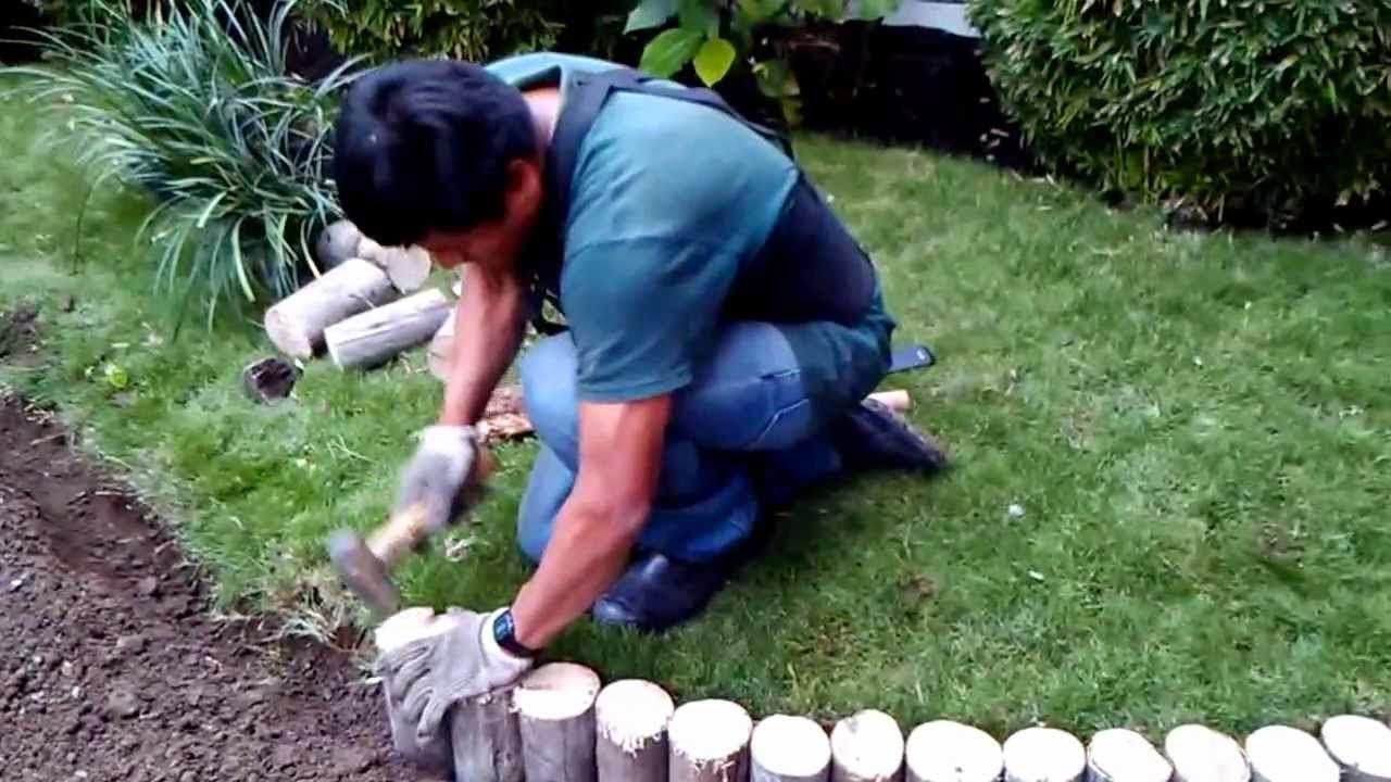 Dise o de jardines decorar los caminos en el jard n for Jardines con madera y piedra