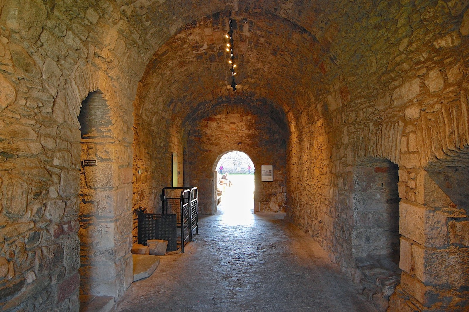 Vaulted entry tunnnel to Rothesay Castle