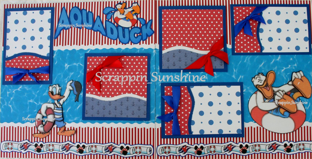 How to scrapbook disney - Disney Cruise Aquaduck 2 Page Scrapbook Page Layout