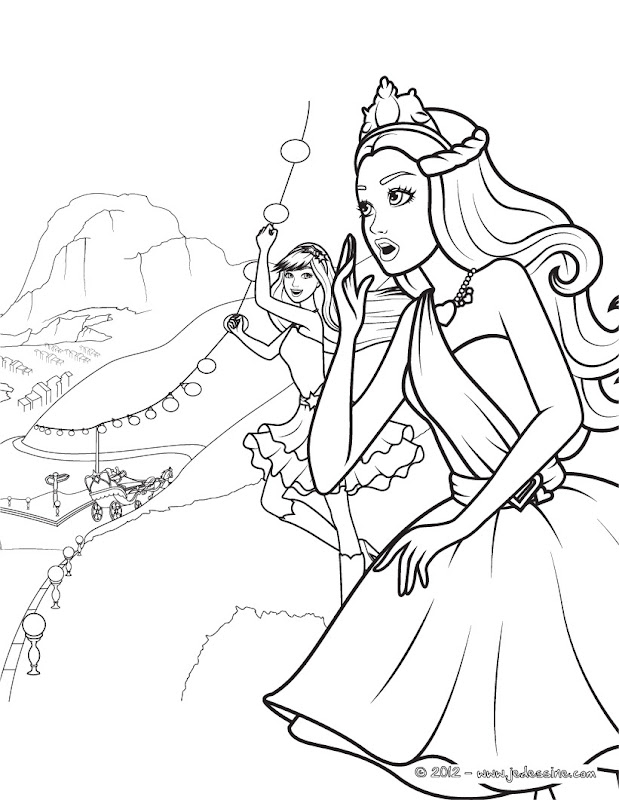 rapunzel barbie coloring pages - photo#18