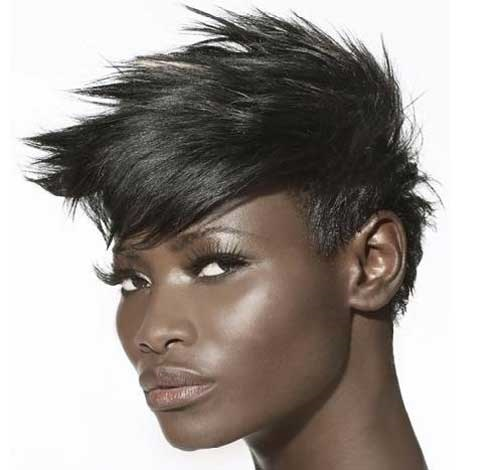 Sexy Spikey Hairstyles for African American  Women