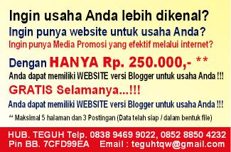 WEBSITE BLOGGER MURAH