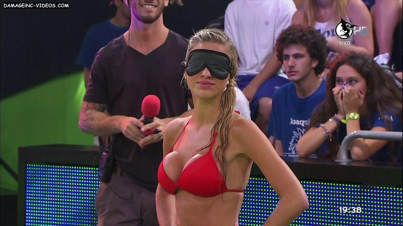 Ailen Bechara big tits in a red bikini Damageinc Videos HD