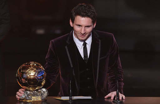 Lionel Messi speaks after receiving for the third time the FIFA Ballon d'Or award